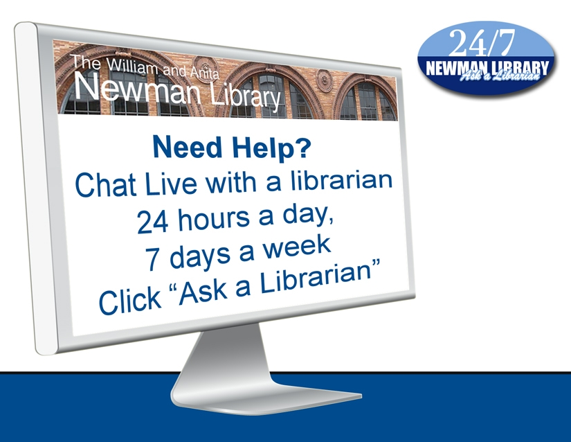 Graphic and Link Need Help? Chat Live with a librarian Click ask a librarian