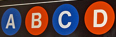 Subway Sign for the A C B D Trains