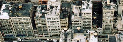 New York City block of buildings
