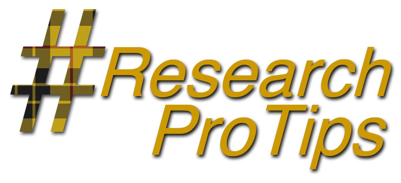 #ResearchProTips