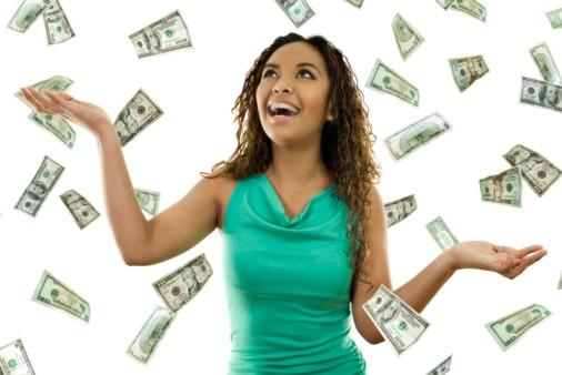 Shower of Dollar Bills