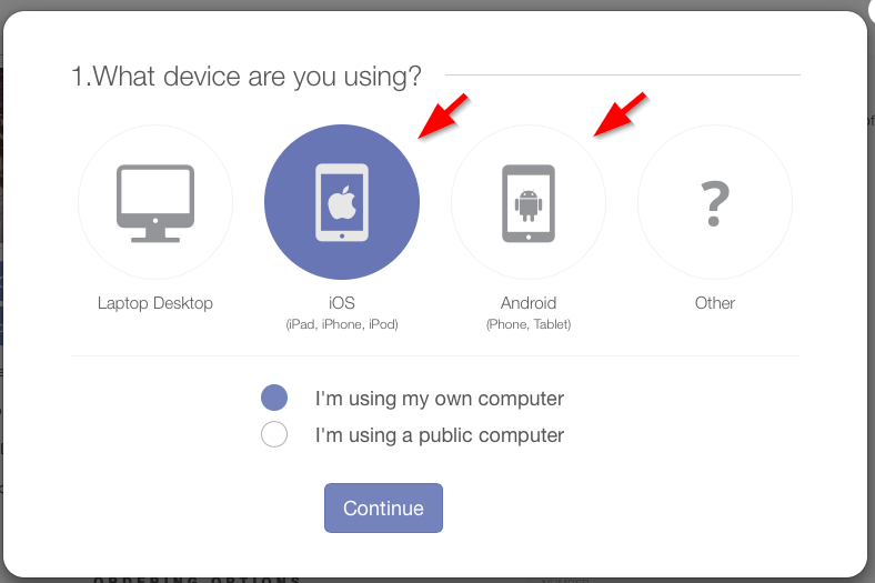 mobile download options
