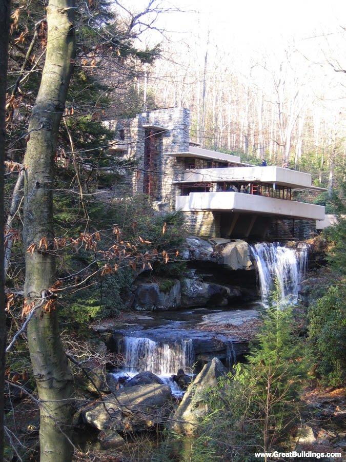 "Frank Lloyd Wright's, ""Falling Water"" design"