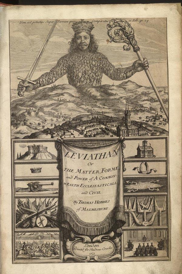 Frontispiece from Thomas Hobbe's Leviathan