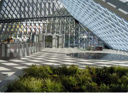 Interior of the Seattle Public LIbrary