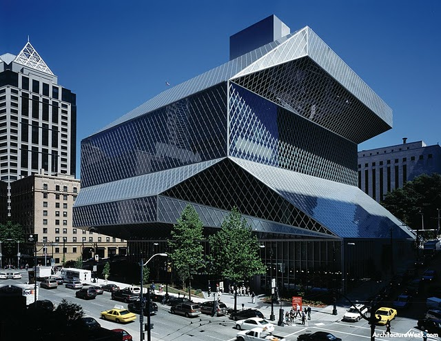 Exterior of the Seattle Public Library