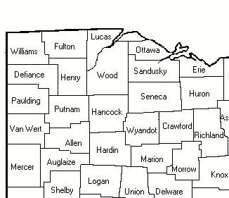 Northwest Ohio Counties