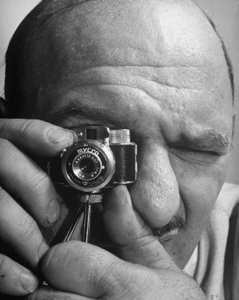 man with microcamera