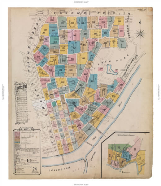 Sanborn map, Cincinnati, Ohio