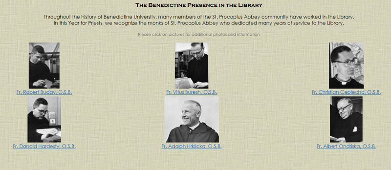 Benedictines in the Library