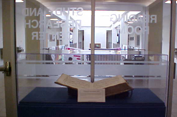 Benedictine Library Archives Display Case