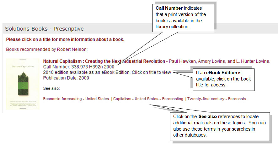 How to access materials from the booklists