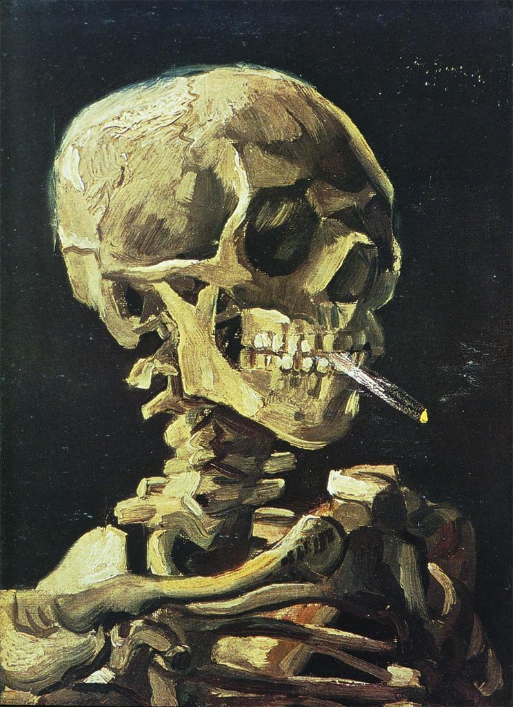 Skull with a Cigarette  Gogh, Vincent van, 1853-1890  ARTstor Slide Gallery