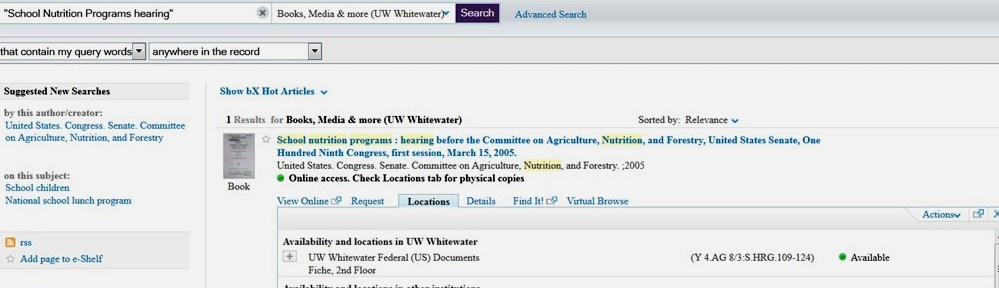 screenshot of doc hearing in catalog