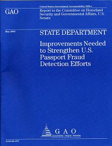 "GAO ""blue book"" report cover"