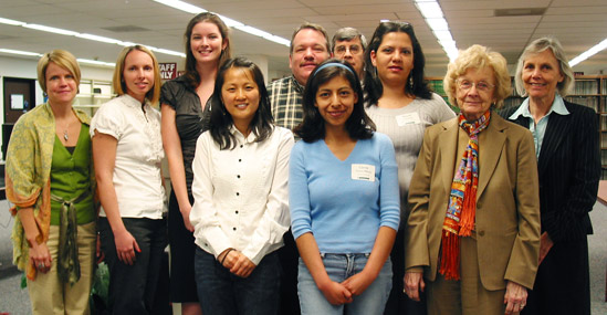 A group of 2009 USF Libraries Scholarship recipients and program administrators
