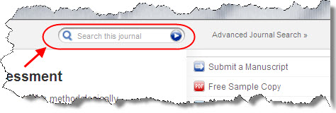 Search within this journal search box in Sage