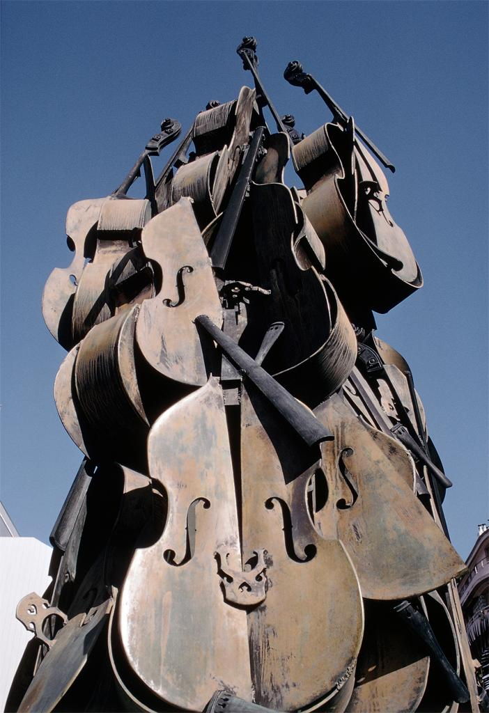Bronze Sculpture of Instruments