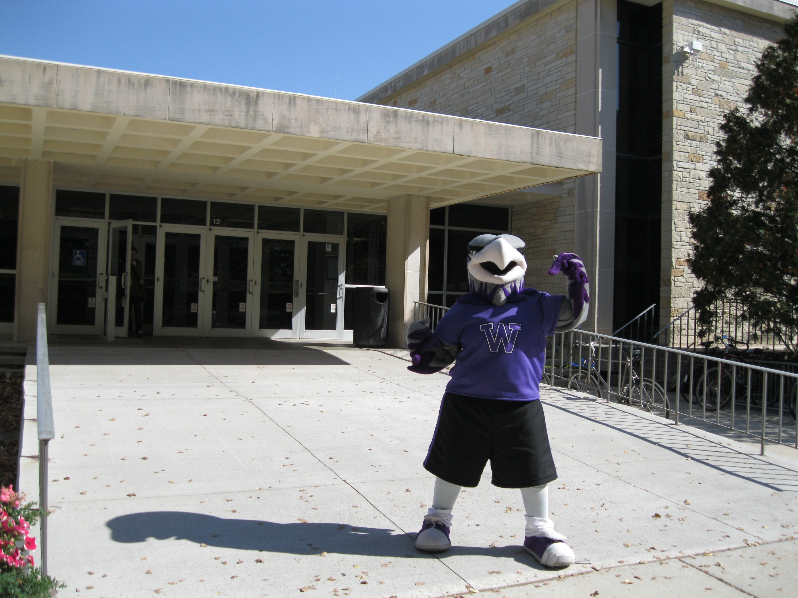 Willie Warhawk Welcomes You to Andersen Library