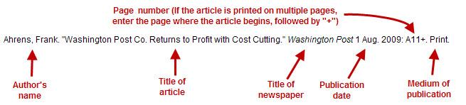 "Ahrens, Frank. ""Washington Post Co. Returns to Profit with Cost Cutting."" Washington Post 1 Aug. 2009: A11+. Print."