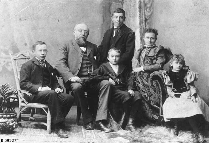 Unknown family group, dated c1895