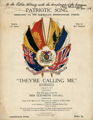 Patriotic sheet music cover