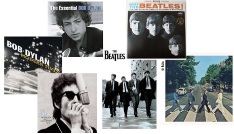 Beatles Dylan Collage
