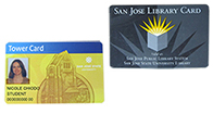 Image of a library card and tower card