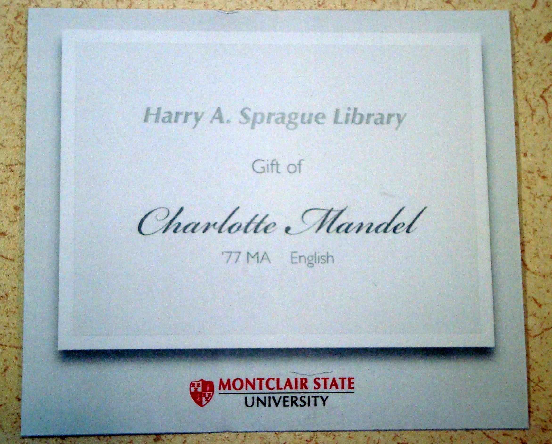 Mandel Bookplate