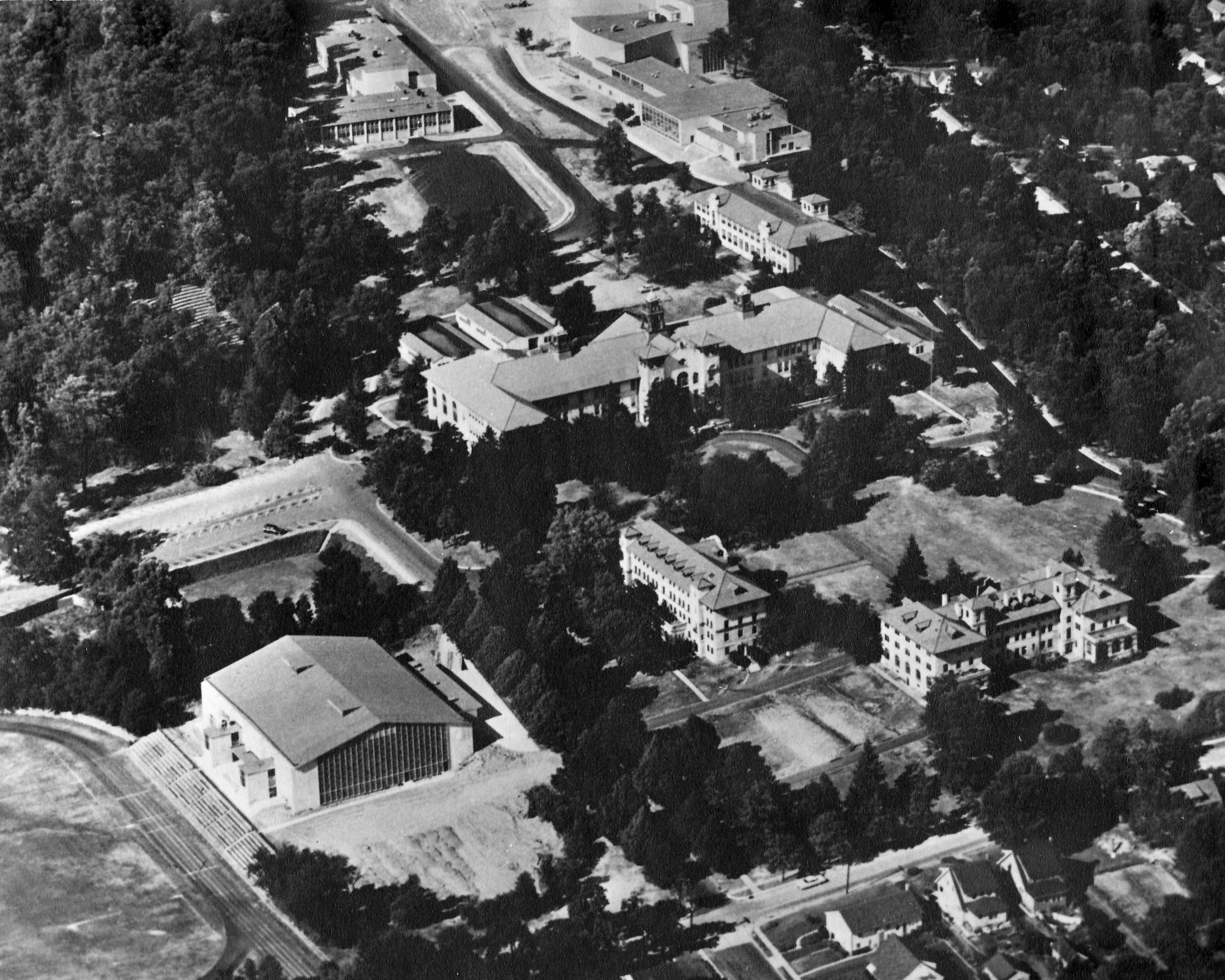 Aerial View of Campus from the 1950's