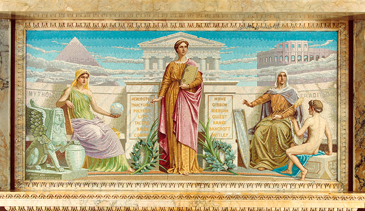 """""""History,"""" Mosaic from the Library of Congress"""