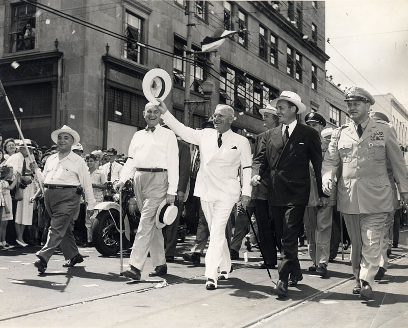 McMath and President Truman Campaigning in Little Rock