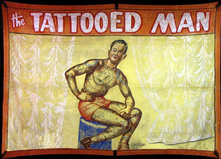 Sideshow Banner Art Tattooed Man
