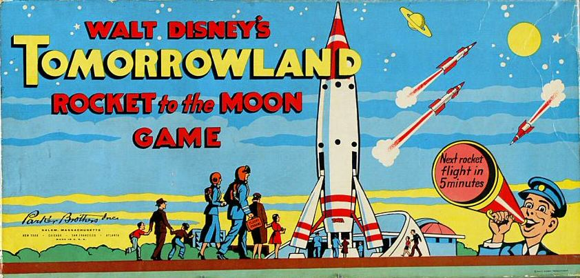 "Walt Disney retro board game, ""Tommorrowland"""