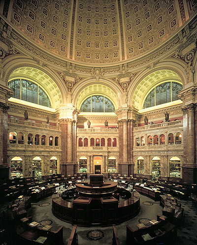 Reference hall at the Library of Congress