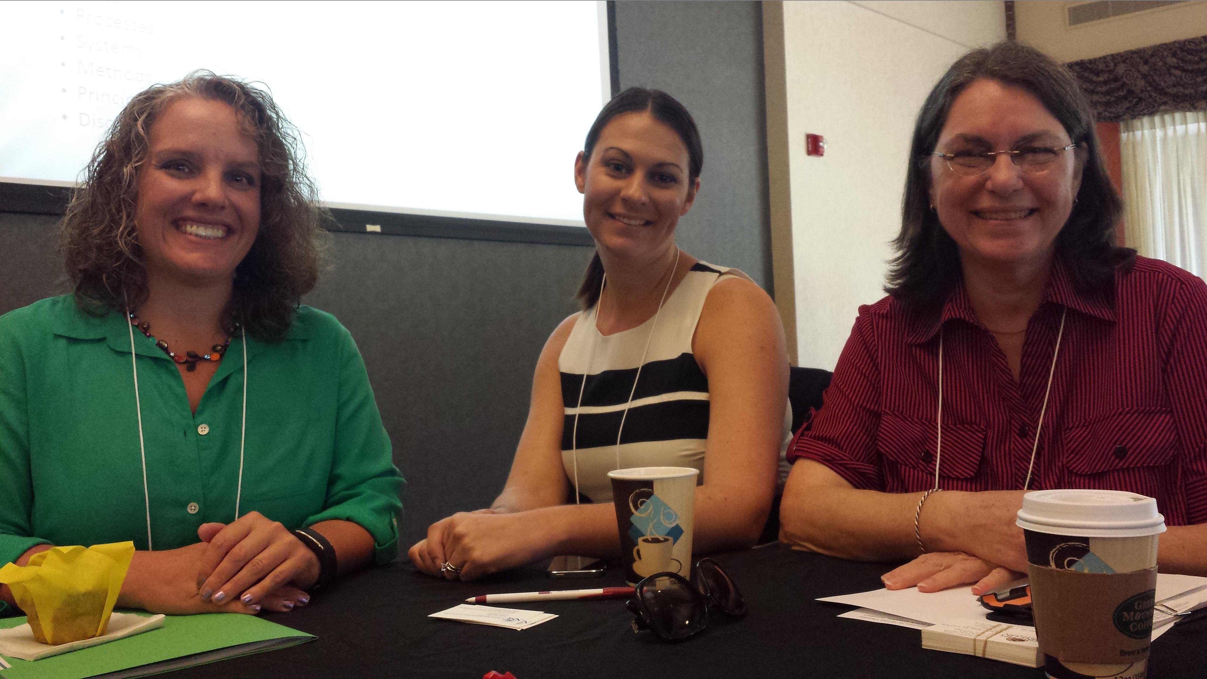 Katie McCormick, Keri Baker, and Sandy Hawes at FACRL-2014