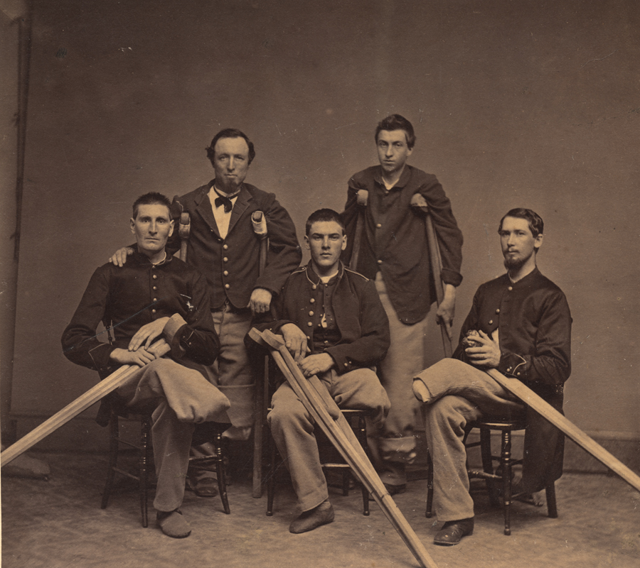Civil War veterans courtesy of the National Library of Medicine