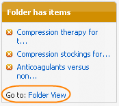 Folder has items column