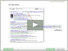 Learn some internet search tips and strategies.