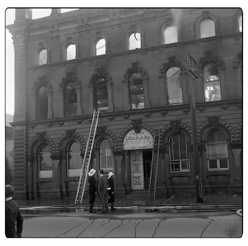 Cohen's Building, Maitland, NSW, Australia - fire, June, 1970