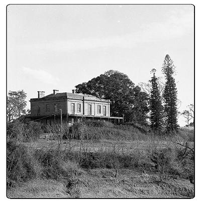 From across the river, Aberglasslyn House, Aberglasslyn, NSW, Australia - March 24, 1961