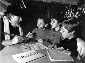 Norman Talbot with little tricksters (Courtesy of Dr Jean Talbot