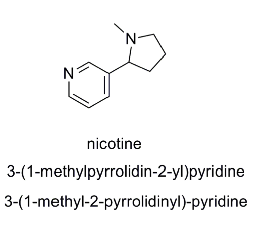 Nicotine Structure