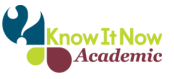 Image is the logo of Know it Now Academic