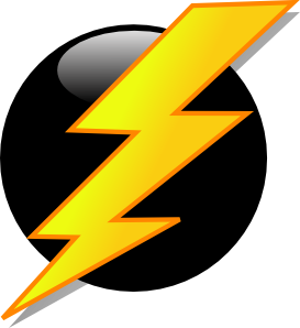 Illustration of a lightning bolt