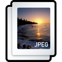 JPEG image of sundown at a beach