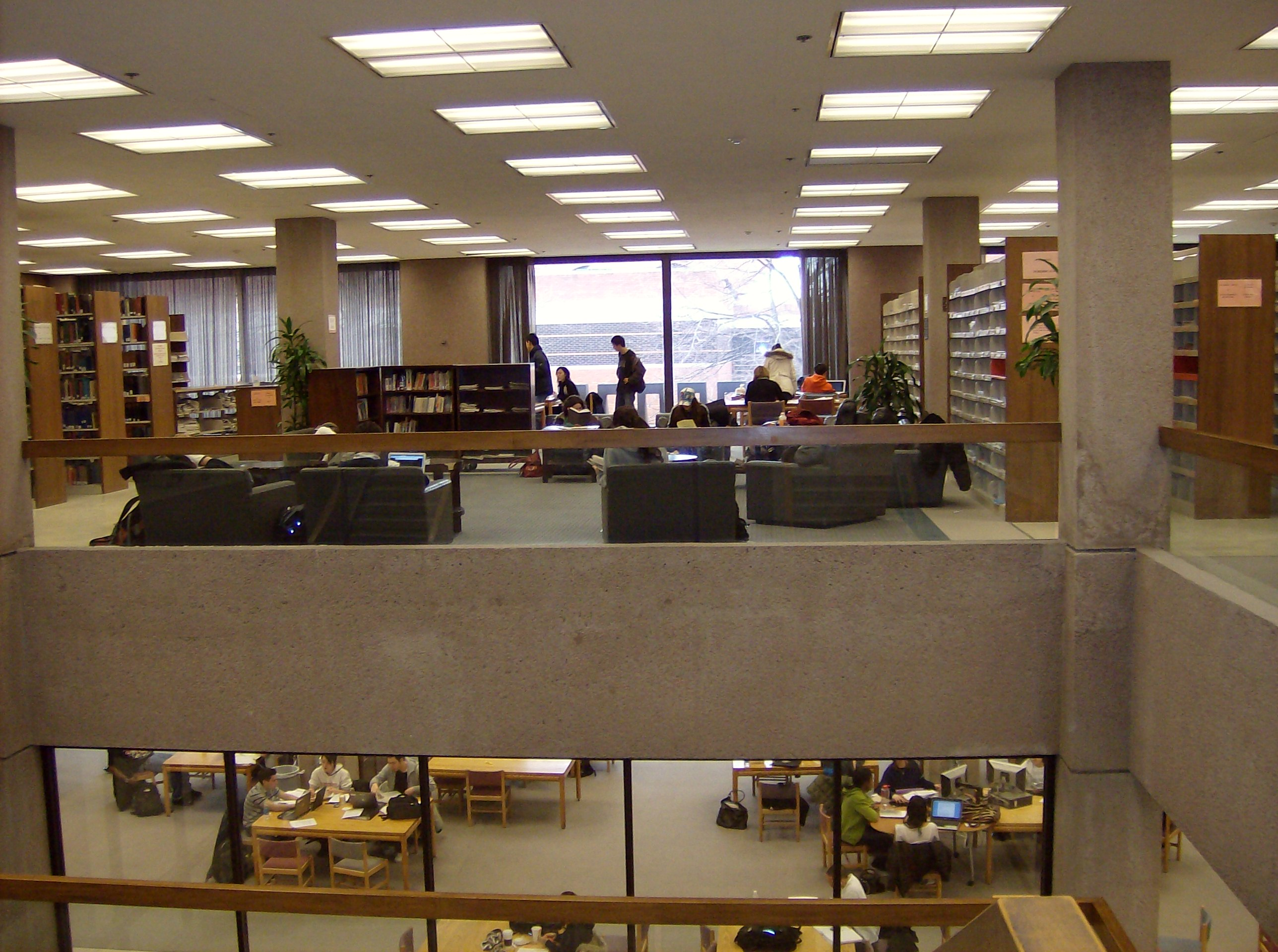 Image of interior of Bird Library
