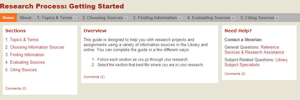 Research process: getting started
