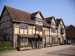 Shakespeare's birthplace in Stratford-on-Avon