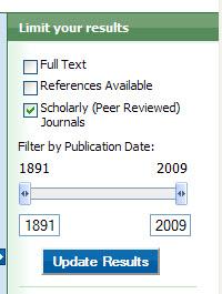 EBSCO selecting peer review